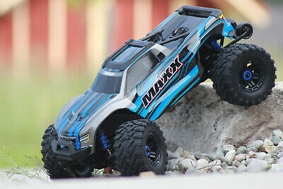 AU1076.84 • Buy Traxxas 89076-4 Blue Maxx Vxl 4S 4x4 Brushless With Tsm New IN Boxed 1:10