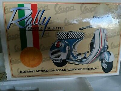 $139.99 • Buy 1996 XONEX Vespa Rally Motor Scooter Die Cast Metal 1:6 Limited Edition Cleve OH
