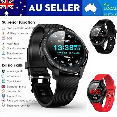 AU64.59 • Buy L9 Smart Watch PPG ECG Heart Rate Blood Oxygen Pressure IP68 Fitness Band