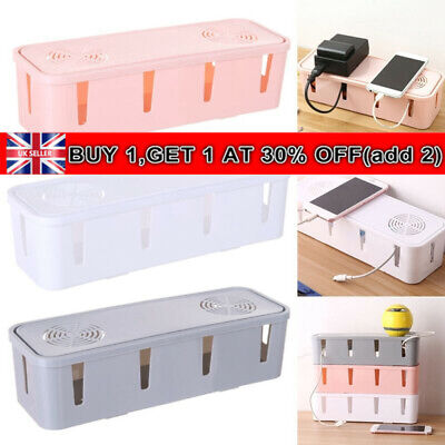 Cable Be Gone Storage Box Wire Cable Management Socket Safety Tidy Organizer~ • 5.99£