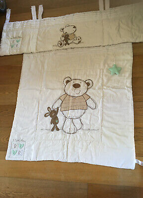 Bruin Cream I Love My Bear Baby Duvet And Cot Bumper Set • 24£