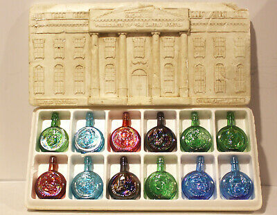 $14.99 • Buy Wheaton Decanters Miniature Presidential Bottle Collection Set Of 12 W/ Box Nice