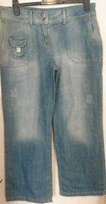Next Jeans Ladies UK 16 Regular Faded Distressed Double Button Bnwt Slouch Fit  • 23.50£