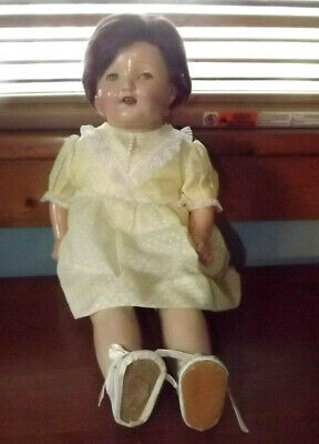 $14.99 • Buy Vintage 18  Brunette Composition Doll W/Crier Open Mouth With Teeth