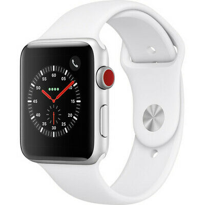 $ CDN297.25 • Buy Apple Series 3 42mm GPS + Cellular Smart Watch - Silver/White (MTGR2LL/A)