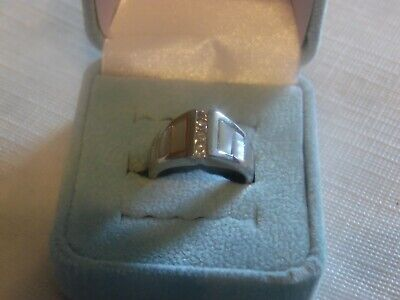 $ CDN12.63 • Buy Lia Sophia Silver Colored With Genuine MOP  Parfait  Ring Size 7 NEW