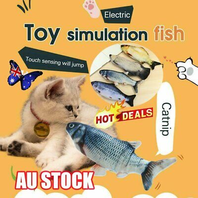 AU15.95 • Buy Cat Wagging Fish Realistic Plush Simulation Grass Carp Doll Fish Plush Toy AU