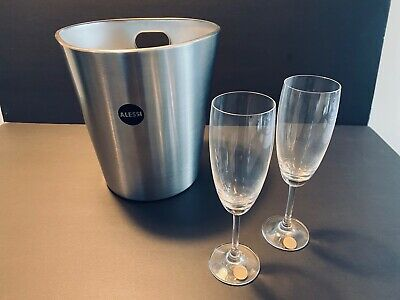 AU39 • Buy ALESSI Bolly Cooler & Glass Gift Set - Unwanted Gift
