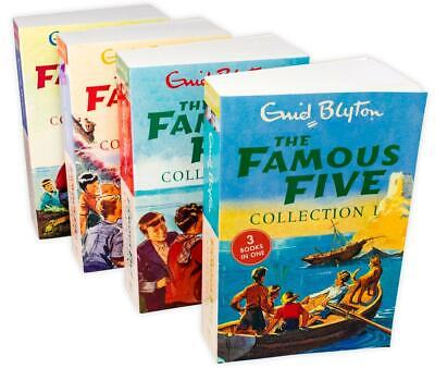 Famous Five 4 Books 12 Story Collection Children Set Paperback By Enid Blyton • 14.98£