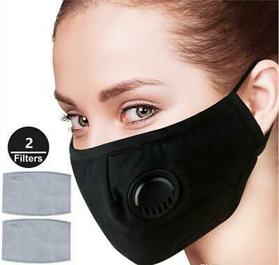 PM2.5 Anti Air Pollution Face Mask Respirator With Filters Washable& Reusable • 4.99£