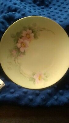 $14.90 • Buy J & C Bavaria Porcelain Plate With Pink Flowers  Gold Colored Trim 6 1/2  EUC