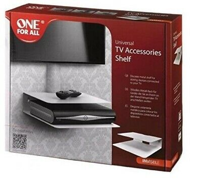 £17.80 • Buy Universal TV Accessories Shelf, Set-Top Box, DVD, PS4 One For All- White Metal