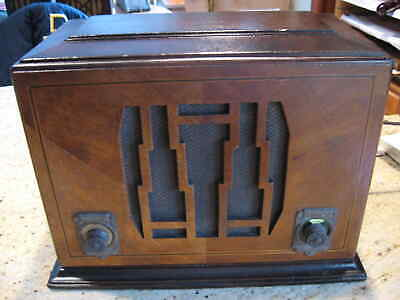 $ CDN442.29 • Buy Vintage Silvertone 1705 Tube Mantle Radio With RCA MP3 Connection