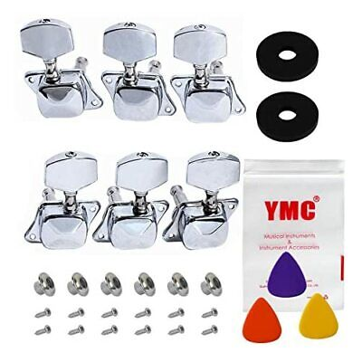 $19.26 • Buy 6Pcs Chrome Guitar String Tuning Pegs Tuners Machine Heads Acoustic Electric NEW