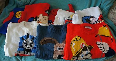 Intersia Handknitted Character Jumpers Girl  Boy Must See • 22.99£