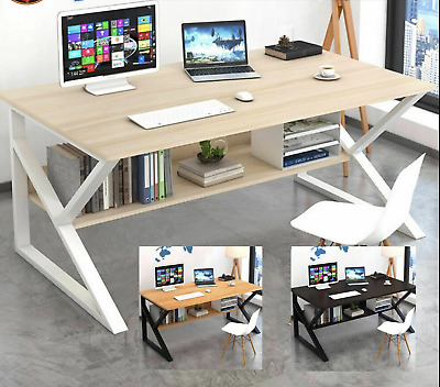 AU157 • Buy Computer Desk  Study Home Office Table Student White Metal Workstation Storage