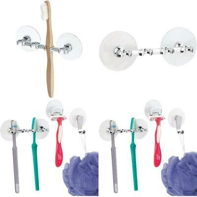 Idesign Toothbrush Holder With Suction Cups, Minimalist Plastic Toothbrush Stand • 7.99£