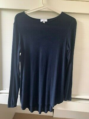 AU4 • Buy Witchery Navy Size S Long Sleeve Top