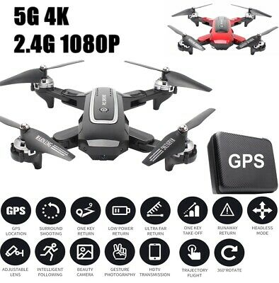 AU155.98 • Buy HJ38 RC Drones Pro 5G With 1080P HD Camera GPS WIFI FPV Foldable Quadcopter