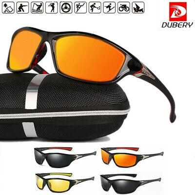 AU19.98 • Buy DUBERY Polarized Mens Sunglasses Polarised New Style Square Frame Glasses W/ Box