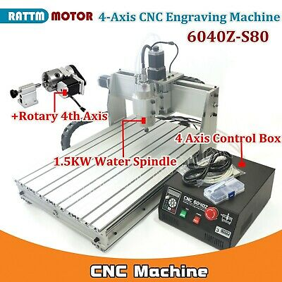 $1679 • Buy 4 Axis 6040 Parallel Mach3 1500W CNC Router Engraving Milling Machine 110V/220V