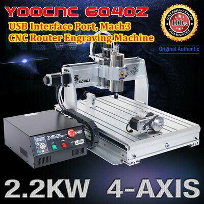 $1879 • Buy 4 Axis 6040 USB Mach3 2200W CNC Router Engrave Cutting Mill Machine 110V Or 220V