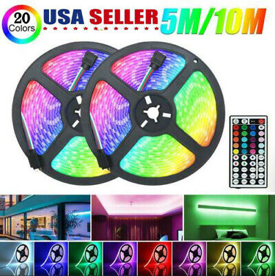 $19.99 • Buy 32FT Flexible Strip Light 3528 RGB LED SMD Remote Fairy Lights Room TV Party Bar