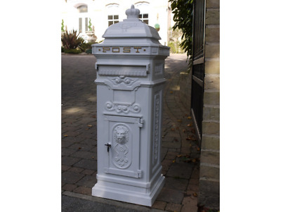 £195 • Buy Traditional Style Aluminium Mail Post Letter Box WHITE Wedding Cards