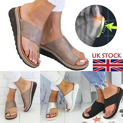 Women Sandal Shoes Comfy Ankle-Strap Toe Correction Arch Support Slippers • 8.99£