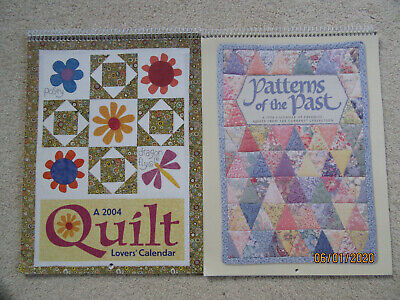 $8 • Buy Quilt Calendar Patterns (Lot Of 2) (Lovers And Patterns Of The Past)