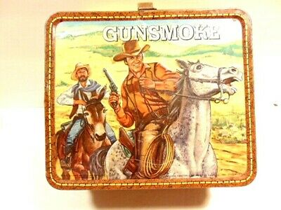 $24.99 • Buy Vintage 1973 Gunsmoke Lunch Box (no Thermos) Made By Aladdin Industries