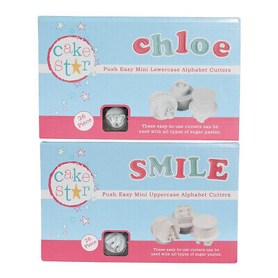 Cake Star Sugarcraft Decorating Push Easy Mini Icing Cutters Alphabet Letters • 19.49£