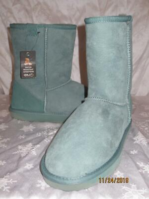 $79.99 • Buy NWT  EMU Womens GREEN Suede STINGER LO SHEARLING Boots Shoes Size 10 W10 NEW