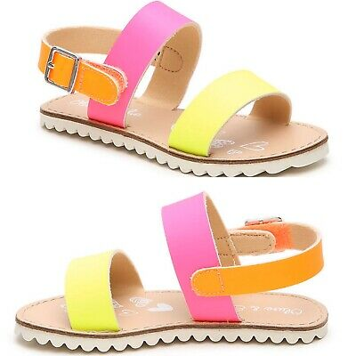 $11 • Buy OLIVE & EDIE Colorblock Sandals Size 9 Toddler Multi Girls NWT