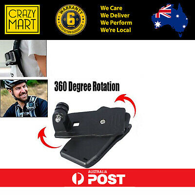 AU9.99 • Buy GoPro 360 Rotary Clip Clamp Mount For Gopro Hero 4K Accessories
