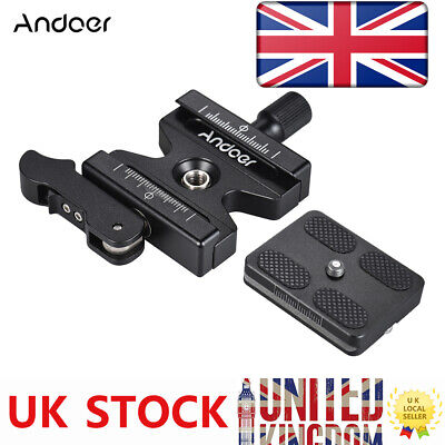 Andoer Tripod Quick Release Clamp Plate Lever Knob Type 3/8  For Arca Swiss K1V8 • 15.50£