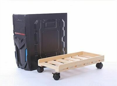 £28.97 • Buy Durable Wooden Pc Case Rolling Wheels Desktop Cpu Stand Holder Computer Tower