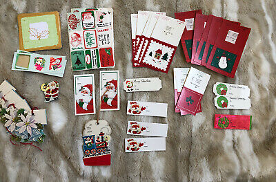 $ CDN25.41 • Buy Mixed Lot Of 90 Vintage Unused Christmas TAGS (34) And Stickers/Seals (56)