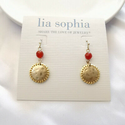 $ CDN6.66 • Buy New Lia Sophia Round Tag Drop Earrings Gift Fashion Women Party Holiday Jewelry