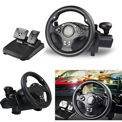 $140.99 • Buy Driving Racing Simulator Game Steering Wheel Stand+Pedal For PS3,PS4,PC,XBOX One