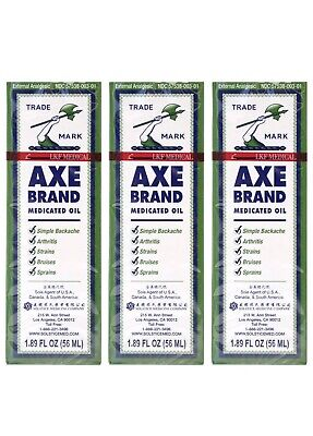 $28 • Buy Axe Brand Universal Oil Cold Headache Muscular Pain Relief 56 ML (3 Pack)