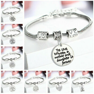 £5.49 • Buy Personalised Gifts For Her Mum Nanny Gran Auntie Sister Godmother Heart Bracelet