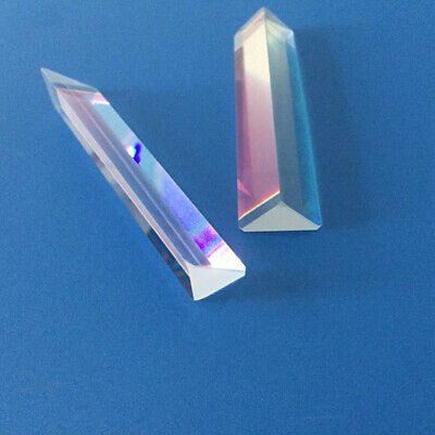 $5.94 • Buy Optics Experiment K9 Optical Glass Equilateral Triple Triangular Triangle Prism