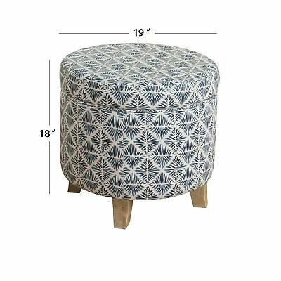 $84.99 • Buy Carson Carrington Hnifsdalur Round Storage Ottoman Flared Navy Small