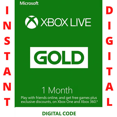 $ CDN13.91 • Buy 1 Month Xbox Live Gold - Instant Delivery - Xbox One / 360 - Works Worldwide