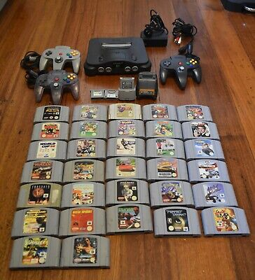 AU535 • Buy Nintendo 64 With 32 Games, 3 Controllers & Accessories Bundle!