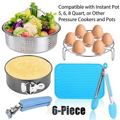 $26.75 • Buy For Instant Pot 6 Pieces Accessories Set Fits 6,8 Quart Cooker W/ Steamer Basket