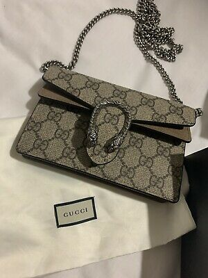AU620 • Buy Gucci Dionysus GG Supreme Super Mini Crossbody Bag PRE OWNED PRE LOVED Authentic