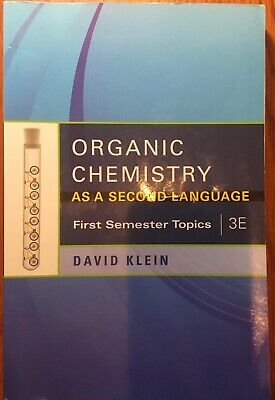 $14.98 • Buy Organic Chemistry As A Second Language - First Semester Topics (3E)