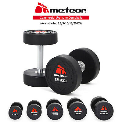 AU34.95 • Buy METEOR Commercial Urethane Dumbbell Barbell Weight Lifting Drop Resistance